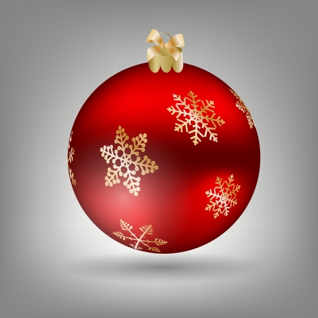 Christmas ball icon Vector