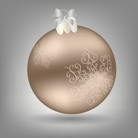frosted: Christmas ball icon
