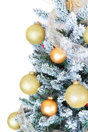 Christmas tree isolated on white photo