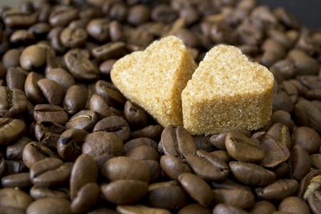 coffee beans, Pots, cinnamon on dark background Stock Photo - 15026784