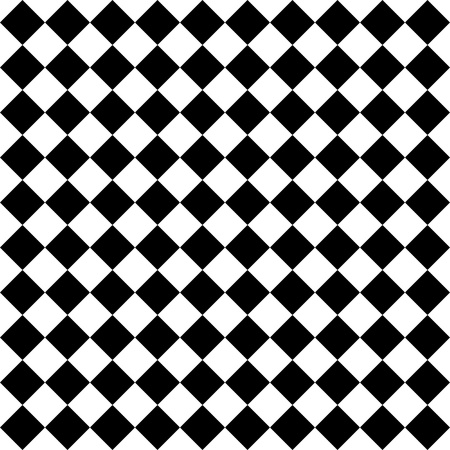 diamonds pattern: Black and white hypnotic background.