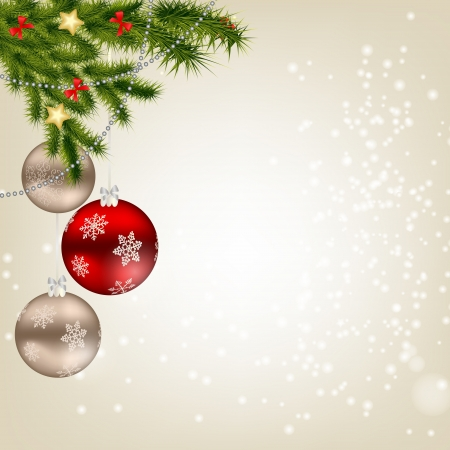 christmas decorations with white background: Abstract beauty Christmas and New Year background