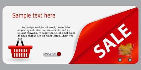 Sale banner with place for your text  Stock Vector - 15117309