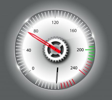 Checkered flag, speedometer Stock Vector - 15117758