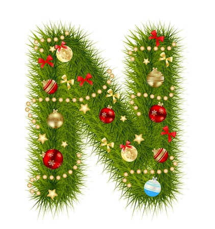 illustration technique: Abstract beauty Christmas and New Year abc.
