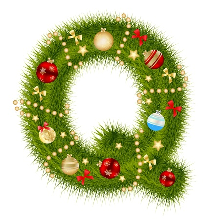 Abstract beauty Christmas and New Year abc.   Vector