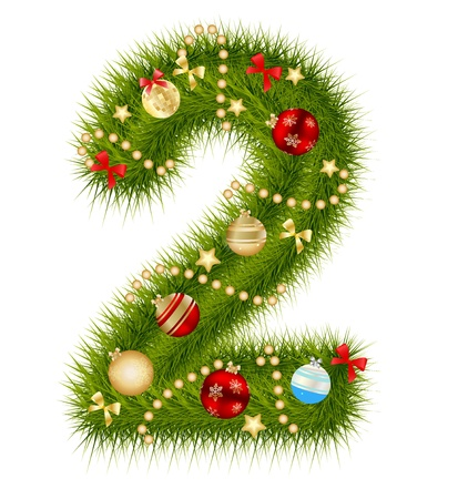 digital numbers: Christmas alphabet number