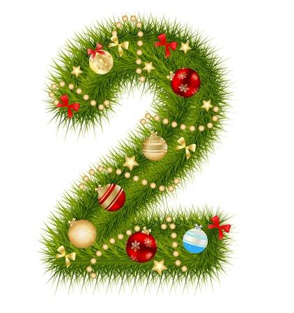 Christmas alphabet number Stock Vector - 15282071