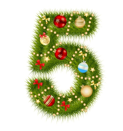 Christmas alphabet number  Vector