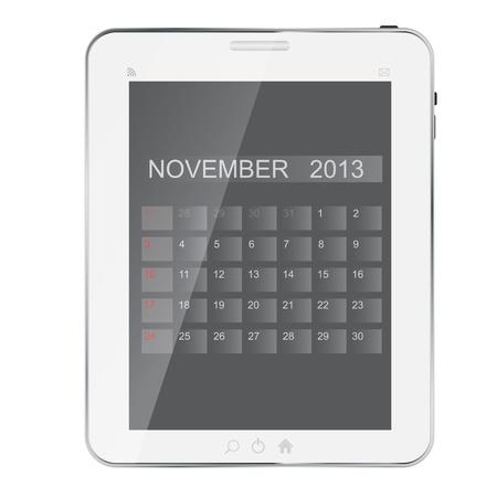 2013 year calendar on abstract  design Tablet Stock Vector - 15278145