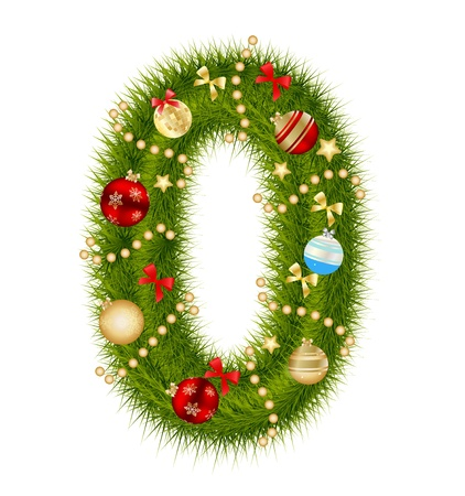 Christmas alphabet number Stock Vector - 15282297