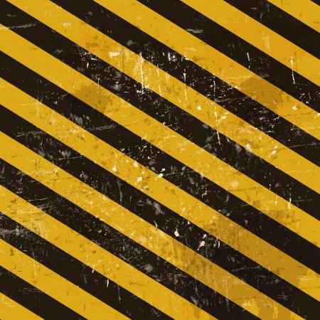 hazardous area sign: Grunge fondo con rayas cunstruction