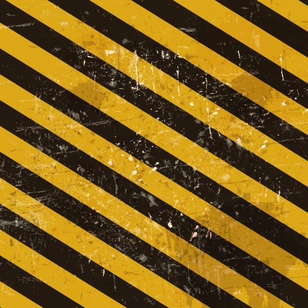 dangerous construction: Grunge striped cunstruction background