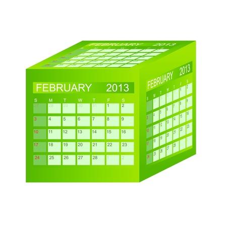 Calendar 2013. February. Stock Vector - 15345824