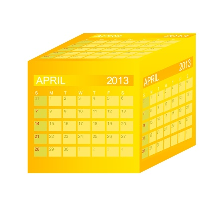Calendar 2013. April. Stock Vector - 15345818
