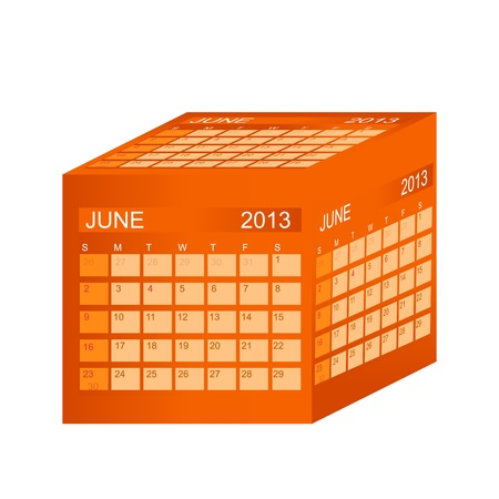 Calendar 2013. June. Stock Vector - 15345828