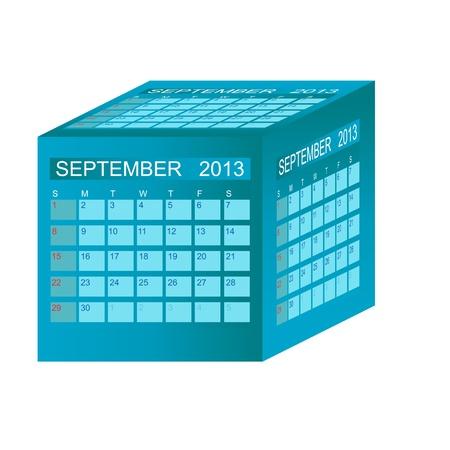 Calendar 2013. September Vector