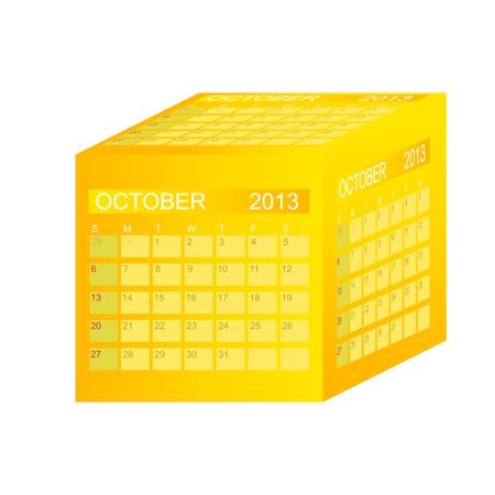 Calendar 2013. October. Stock Vector - 15345827