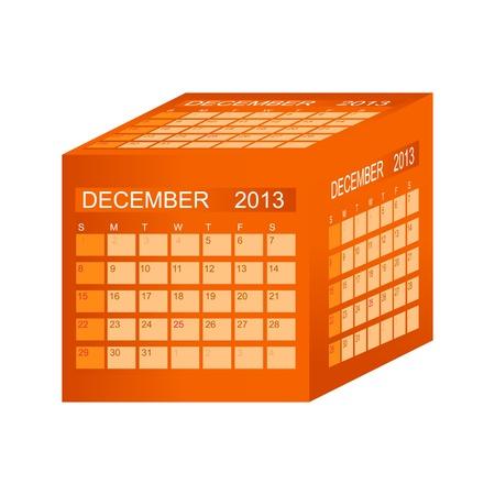 Calendar 2013. December Stock Vector - 15345821