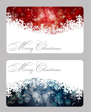 xmas tree: Set of christmas  New Year banners (cards)