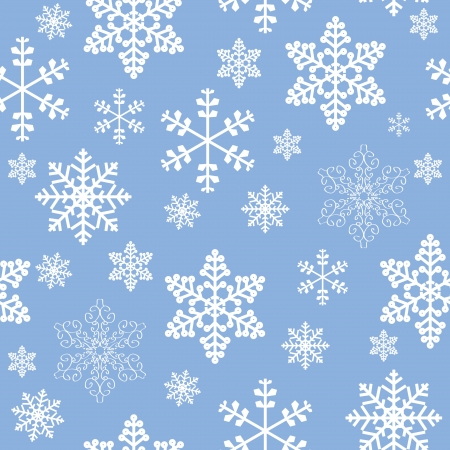 Winter christmas new year seamless pattern  beautiful texture with snowflakes Vector