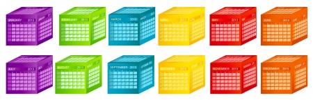 Calendar 2013 Stock Vector - 15346098