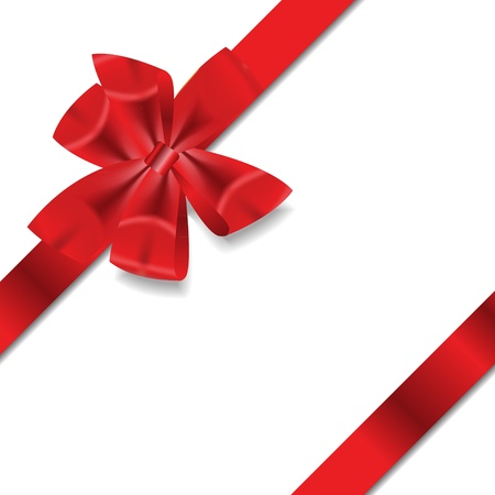 wrapping paper: Red Gift Ribbon   Vector illustration