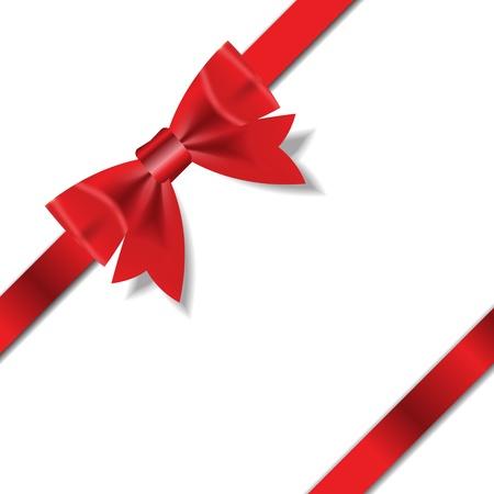 christmas cross: Red Gift Ribbon   Vector illustration