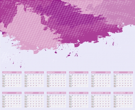 forcast: Calendar 2013  Vector Illustration
