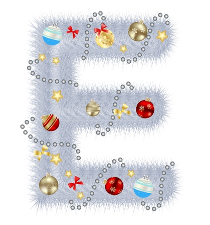 Abstract beauty Christmas and New Year abc illustration Stock Photo