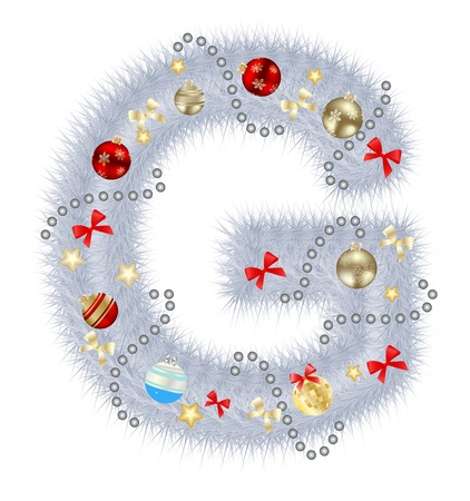 Abstract beauty Christmas and New Year abc illustration Stock Illustration - 15457059