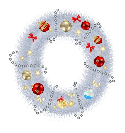 Abstract beauty Christmas and New Year abc  illustration Vector
