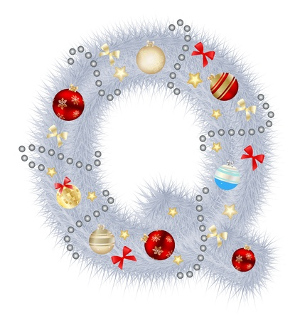 alhabet: Abstract beauty Christmas and New Year abc illustration Stock Photo