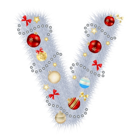 Abstract beauty Christmas and New Year abc  illustration