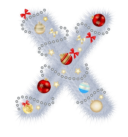 alhabet: Abstract beauty Christmas and New Year abc   illustration Illustration