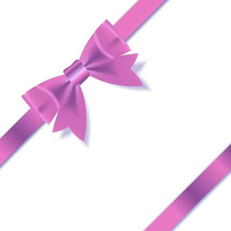 pink ribbons: Pink Gift Ribbon    illustration