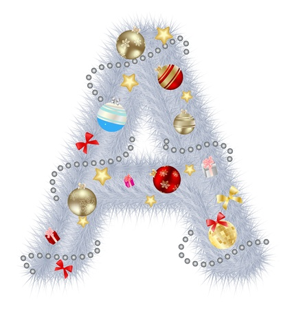 alhabet: Abstract beauty Christmas and New Year abc  illustration