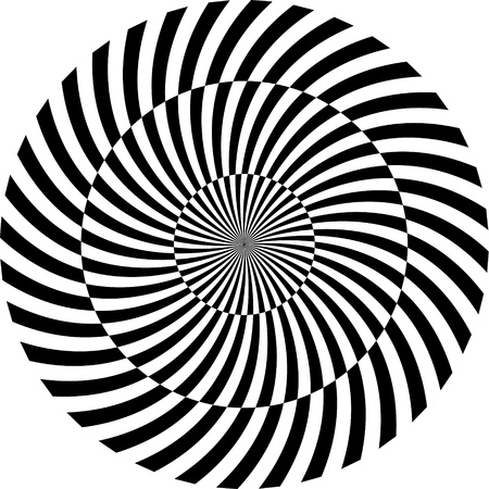 Black and white hypnotic background   illustration Vector
