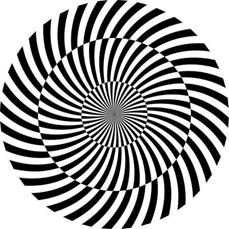 hypnotique: Fond noir et blanc hypnotique illustration