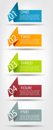Concept of colorful origami  for different business design  Vect Illustration