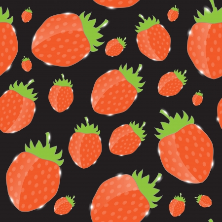 Strawberry, cream abstract hypnotic background  vector illustrat Vector
