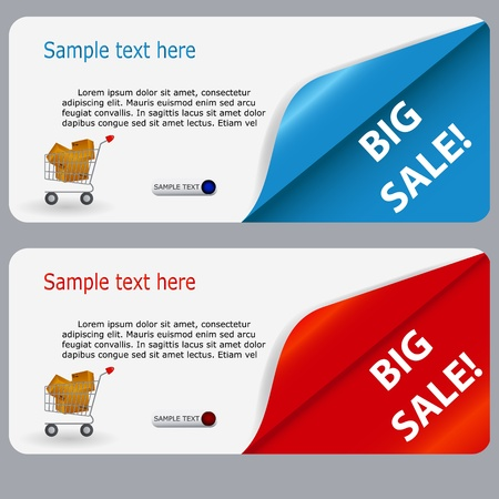 Sale banner with place for your text  vector illustration Stock Vector - 15654566