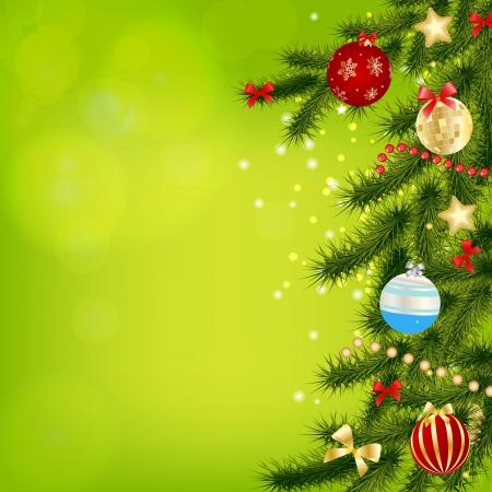 luz roja: Resumen belleza de Navidad y A�o Nuevo fondo Vector illust