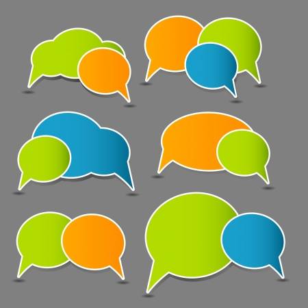 Speech bubbles illustration Stock Illustration - 15759733