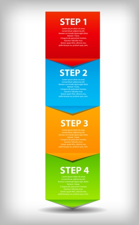 business process: concept of  business process improvements chart. Vector illustration.  Illustration