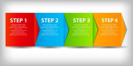 proceso: concepto de mejora de procesos de negocio gr�fico. Vector ilustraci�n.