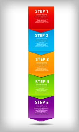 color chart: concept of  business process improvements chart. Vector illustration. Illustration