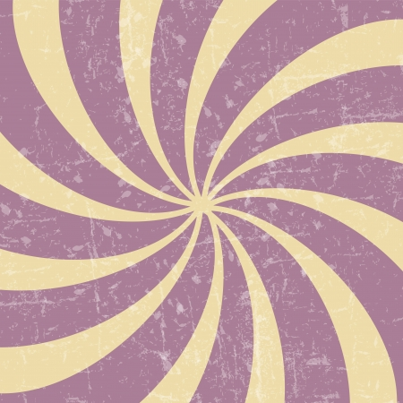 Retro vintage grunge hypnotic background vector illustration Vector