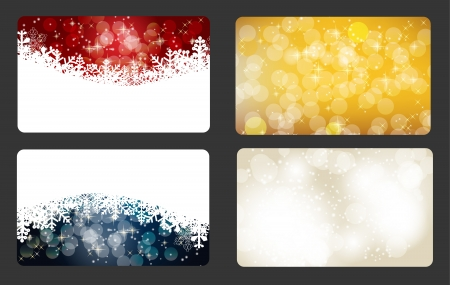 Set of vector christmas   New Year banners  cards