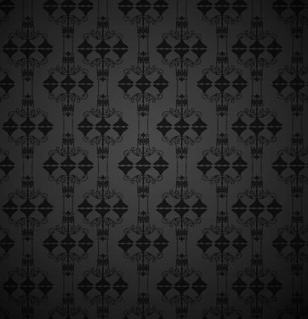 ruban noir: Vintage illustration beaut� blanc vecteur